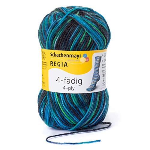 Schachenmayr REGIA Handstrickgarne 4-fädig Color, 50g Allround Gras