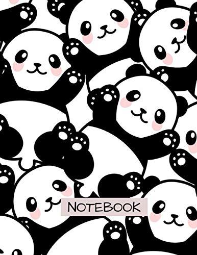 baby panda notebook, panda lover gift