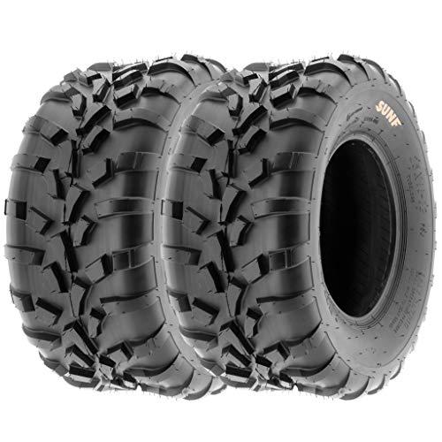 Pair of 2 SunF 25x10-12 AT-XC ATV/UTV Off-Road Tires, 6PR, Directional Knobby Tread | A010
