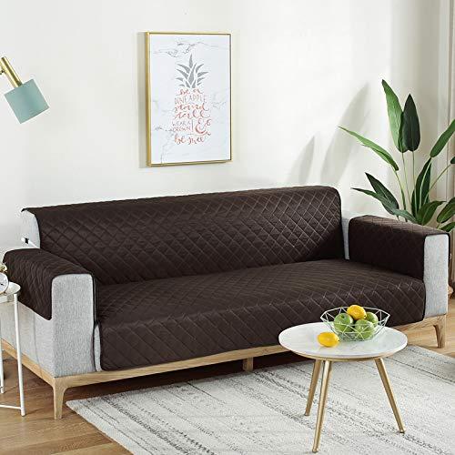 Mazu Homee Funda de sofá, impermeable y antiincrustaciones, funda de cojín para sofá de mascota, lavable, funda elástica para sofá de esquina, funda elástica para sofá de 3 plazas, 167 x 190 cm