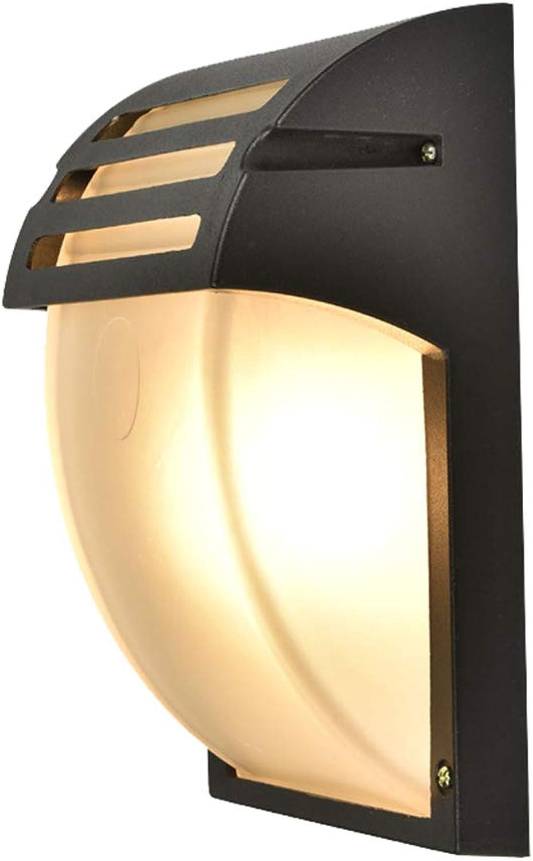 Lixin Geführte Wandleuchte Feuchtigkeitsgeschützter Balkonkorridor Wasserdichte und FeuchtigkeitsBestendige Rippen FeuchtigkeitsBestendige Wandleuchte (Farbe   Sand schwarz-34  12  12cm)