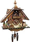 Cuckoo-Palace Pendule à Coucou Quartz-Mouvement Chalet-Style 42cm