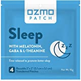Ozmo Patch Sleep Patch Natural Sleep Aid Encourages Insomnia Relief and Reduces Anxiety with Melatonin, Magnesium, and GABA. Time Released Natural Sleep Aid Medical Grade Hydrogel Reusable Applicator