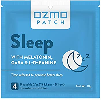 Ozmo Patch Sleep Patch Natural Sleep Aid Encourages Insomnia Relief and Reduces Anxiety with Melatonin Magnesium and GABA Time Released Natural Sleep Aid Medical Grade Hydrogel Reusable Applicator