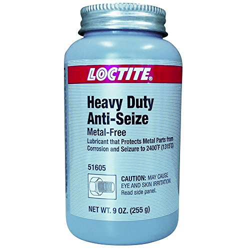 Loctite 51605 Gray LB 8009 Heavy Duty Anti-Seize Lubricant, -20 Degree F Lower Temperature Rating to 2400 Degree F Upper Temperature Rating, 9 fl. oz. Brush Top Can