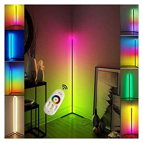 Lámpara De Pie De Esquina LED RGB Que Cambia De Color, Alto, Minimalista, Nórdico, Que Cambia De Color, Luz De Ambiente De Pie con Control Remoto Regulable para Decoración De Iluminación