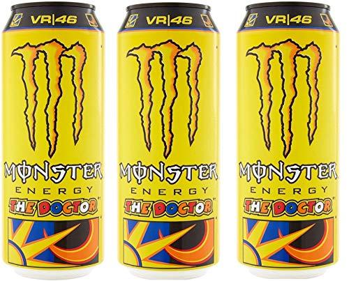 Monster Energy Drink 500 ml (MONSTER ENERGY DRINK THE DOCTOR VR46, 3 Lattine da 500 ml)