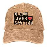 LsjueeGorra para Hombres y Mujeres, Gorra de Mezclilla Ajustable de algodón de Black Lives Matter para Mujeres