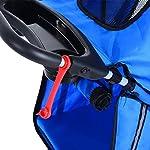 PawHut Pet Travel Stroller Cat Dog Pushchair Trolley Puppy Jogger Carrier Three Wheels (Blue) 16