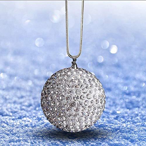 Augproveshak Kristallkugel Auto Rückspiegel Ornament, hängende Ornament Crystal Sun Catcher Ornament für Auto oder Wohnkultur, Auto Charm Ornament