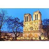 nzhma Escena de Pintura de Diamante Redondo Completo 5D DIY Bordado de Diamantes Notre Dame De Paris Imagen de decoración de Diamantes de imitación hogar 40x50cm