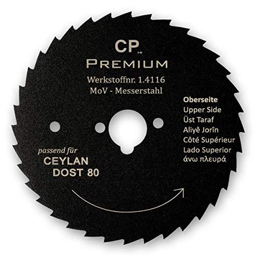 Für Ceylan Dost 80 mm Kreismesser mit Teflonbeschichtung Gezahnt Dönermesser Kebapblade