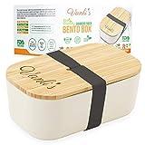 Vanli's Caja Bento de Bambú Ecológico | Fiambrera Reutilizable con Tapa...