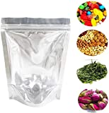 200 PCS Resealable Mylar Bags Stand Up Foil Ziplock Bags by Lauren(5 x 8Inches)