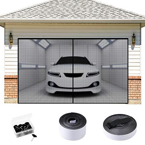 EXTSUD Mosquitera Magnética para Garaje Cortina Mosquitera para Cochera, Protección contra Insectos para Puerta Grande, 284 x 218cm