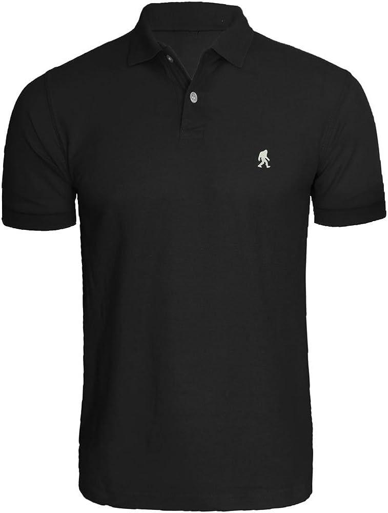 Mens Sasquatch Embroidered Polo Shirts Men Shirts