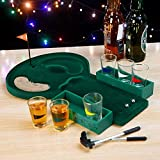 Newest Golf Shot Glass Drinking Game Set,Golf Game Set for Family Indoor Club Leisure Party Games,with 2 Balls 6 Cups 2,Entertaining Party Drinking Game