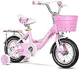 Xiaoyue Indoor Bikes Heimtrainer for Kinder im Freien Rosa Fahrrad schöne Prinzessin Bike Girl Übungs-Mädchen lalay