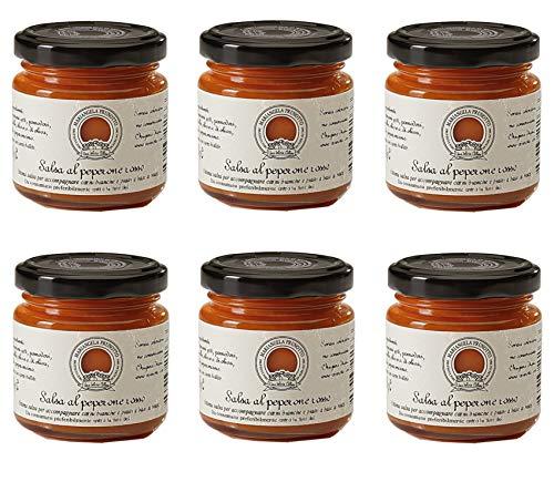 Mariangela Prunotto Azienda Agricola - 6 vasetti Salsa al Peperone Rosso 110 g (6x110g)