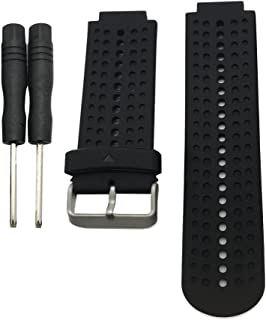 MagiDeal Silicone Removal Waterproof Watch Bands For Garmin Forerunner 220 230 235 620 630 Black