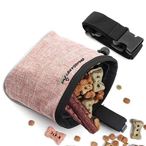 Xinda Hundeleckerli-Tasche für freihändiges Welpentraining mit verstellbarem Bund und integriertem Hundekotbeutelspender, 2 Tragemöglichkeiten