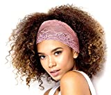Stunning Stretch Wide Floral Lace Headbands in Many Beautiful Colors Handmade ShariRose (pink)