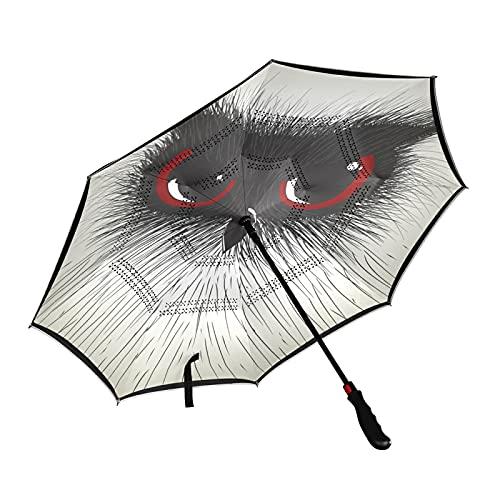 ISAOA - Paraguas de golf con diseño de búho, con funda de transporte