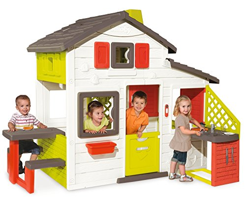 Smoby Kids Playhouse and Kitchen | Quick & Easy to Assemble Wendy House, Made from Durable & Weatherproof Anti-Uv Plastic