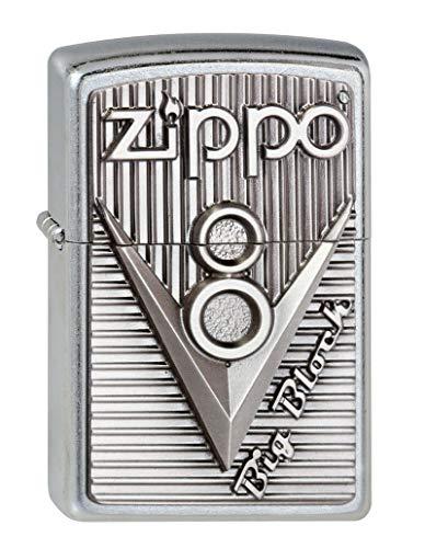 Zippo Zippo Feuerzeug 2003248 V 8 Emblem Benzinfeuerzeug, Messing Chrome