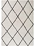 Benuta Alfombra Shaggy Gobi Shaggy de Pelo Largo, para salón, de Pelo Largo, Moderna, Color Crema, 80 x 150 cm, para Dormitorio, 80 x 150 cm