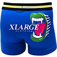 X-LARGE エクストララージ メンズ ローライズ ボクサーパンツ M L XL dwearsステッカー入り ブランド 大きいサイズ LLサイズ 男性 下着 誕生日 プレゼント <マウスロゴ ブルー Lサイズ >