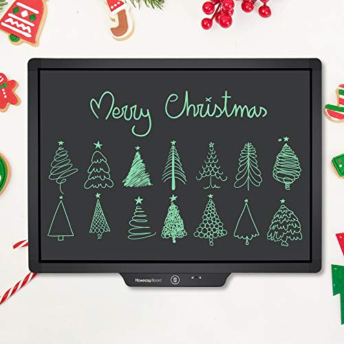 Writing Tablet for Kids, Howeasy Board 20 Inch Electronic Drawing and Writing Board for Kids & Adults, Handwriting Paper Doodle Pad for School and Office Toys (Black)