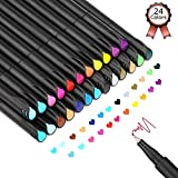 24 Fineliner Stifte,Bullet Journal Stifte Set,Farbig Stifte Pinselstift Set Farbe Pen Fine Line...