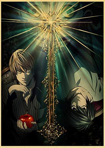 Lovmo Death Note Anime DIY 5d Pintura de Diamantes, Incrustaciones de Diamantes, decoración del hogar, patrón de Bordado, Regalo de año Nuevo Hecho a Mano(Cuadrado 50x60cm)
