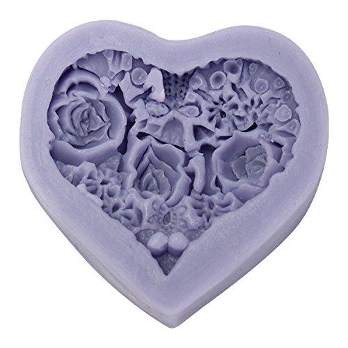 Bazaar 3D hart rozen bloemen siliconen chocolade vorm fondant kaars zeepvorm