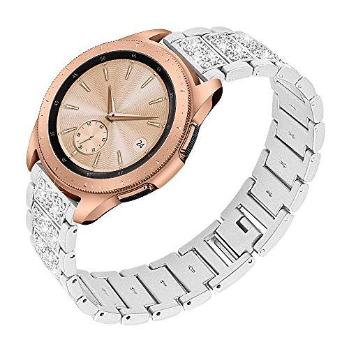 Ruentech Compatible para Galaxy Watch 3 41 mm / Galaxy Watch Active / Galaxy Watch 42 Mm / Gear S2 Classic / Gear Sport Pulsera Metal Bandas de acero inoxidable Accesorios de repuesto