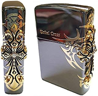 Zippo Side Tribal Cross BI Lighter BI / Genuine Authentic / Original Packing (6 Flints set Free Gift)