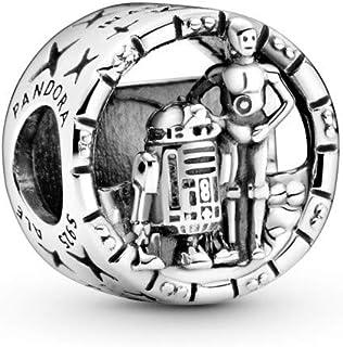 Pandora Star Wars C-3PO en R2-D2 open bewerkte bedel, sterling zilver 799245C00
