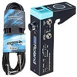 Roland RT-MiCs - Módulo de batería híbrida con micrófono y cable jack keepdrum GC008 de 6 m