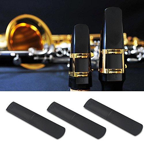 Tbest 3 stks Alto Saxofoon Rietjes, 2.5 Kunststof Hars Alto Saxofoon Mondstuk Rieten 2.5 Onderdelen Reparatie Rietaccessoire
