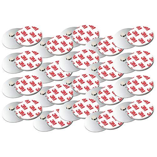 Rauchmelder Magnethalter mit 50mm Ø - 20er Set - Selbstklebend für klein und Mini Rauchmelder - 3M Klebepads mit Magnethalterung zur einfachen Befestigung ohne Bohren und Schrauben