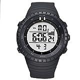 BIDEN Relojes digitales de moda para hombre, deportivos, militares, impermeables, de cuarzo, Relogio Masculino (blanco y negro)