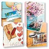 Zep Bundle 4 Album da 300 Foto - 1200 Foto 13x19 13x18 a Tasche in Varie Fantasie portafoto con Etichette memo