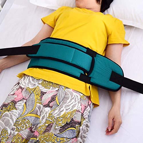ZHANGZHIYUA Cinturón de Seguridad de la Cama, Ancianos Ajustables Cuidado de la Cama Control de la barandilla de la Correa de sujeción de Las extremidades para Cama o Silla de Ruedas