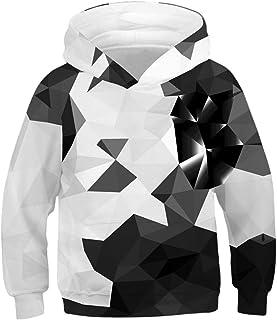 5296c687be994 YIMIAO Enfant Garçons Filles 3D Imprimé Sweat-Shirts De noël Hoodies 3-10Y  Adolescents
