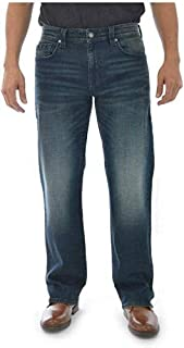 Men's Slim Boot Cut Jeans in Dark Wash