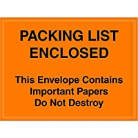 Ship Now Supply SNPL410 Important Papers Enclosed Envelopes 4 1/2 x 6 width 4.5 Length Orange (Pack of 1000) [並行輸入品]