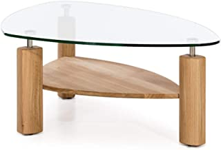 Amazon Fr Table Basse En Verre Ovale