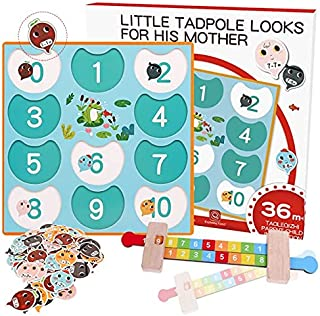 Math Toys - Baby math toy Addition and subtraction within 10 Monterssori Educational Wooden toys table game and family gam...