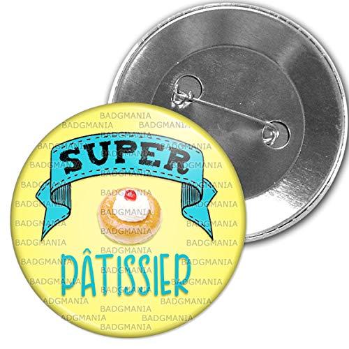 Badgmania Badge 5.9cm Epinglette Super Patissier Humour Métier Idée Cadeau